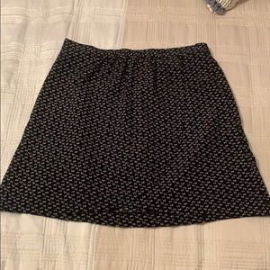 NWT loft black and white skirt - size 6